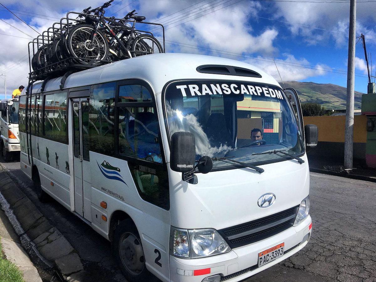 автобус с велосипедами