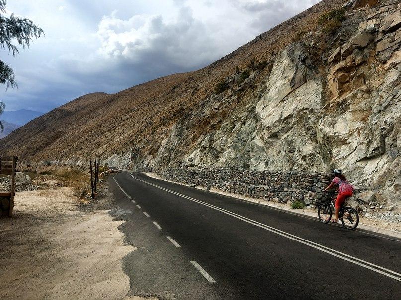 на велосипеде в чили