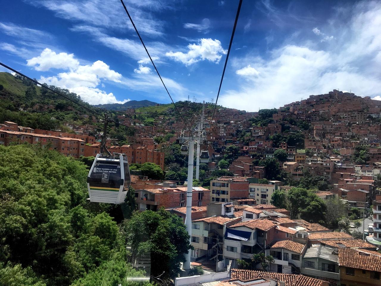 канатная дорога в медельин
