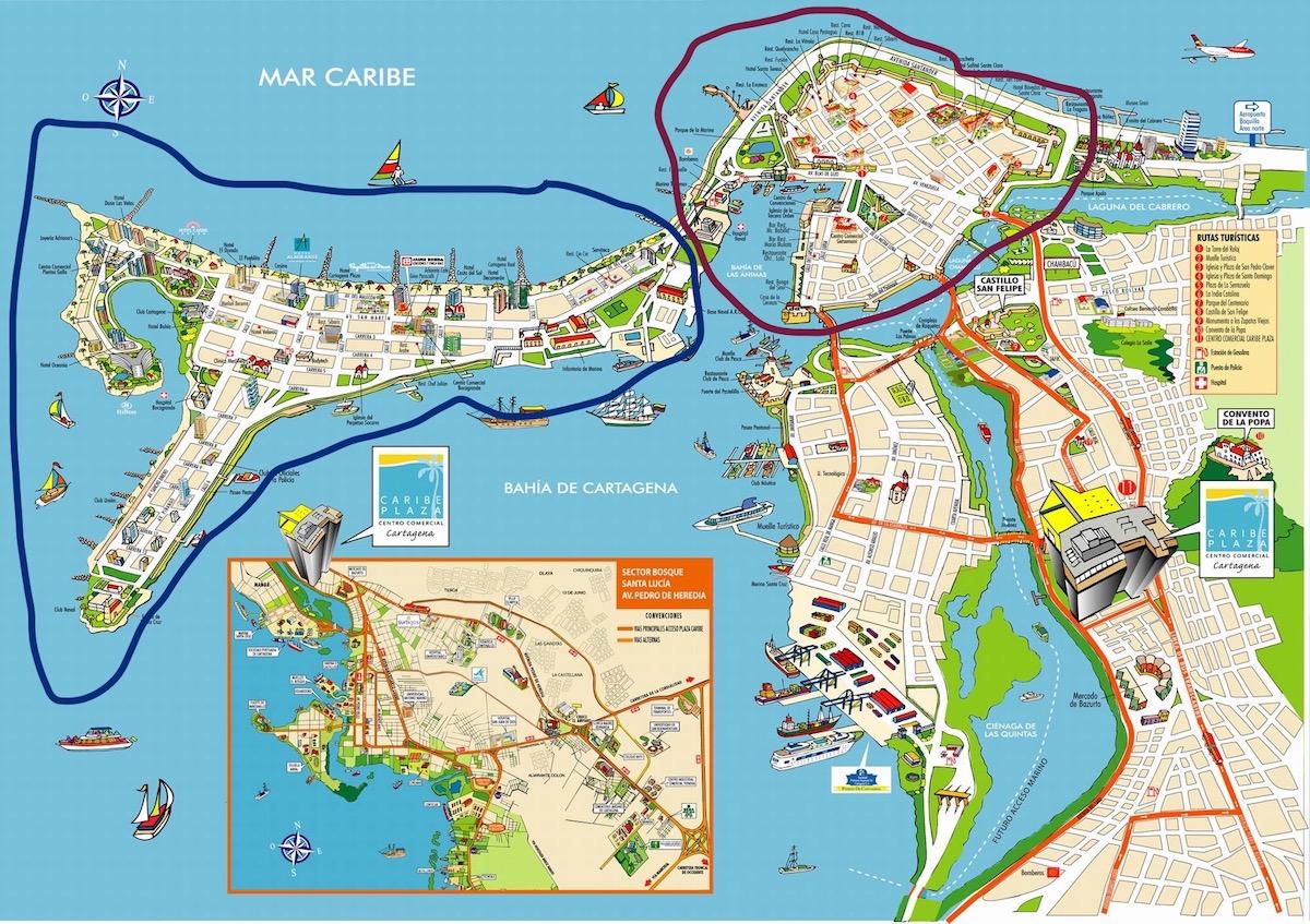 на карте выделены оба безопасных района