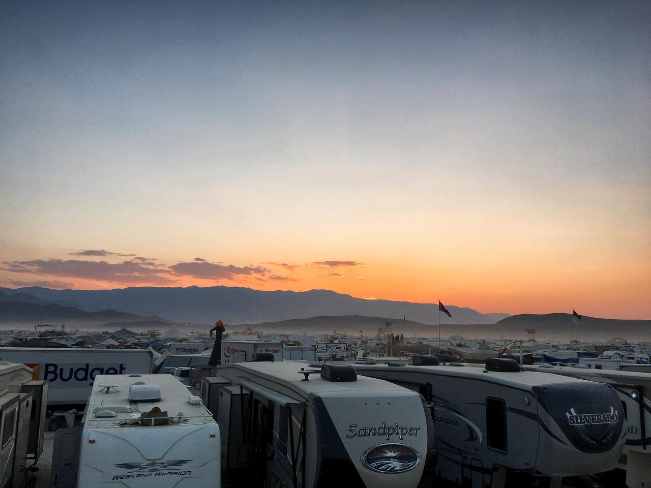 закат с крыши RV
