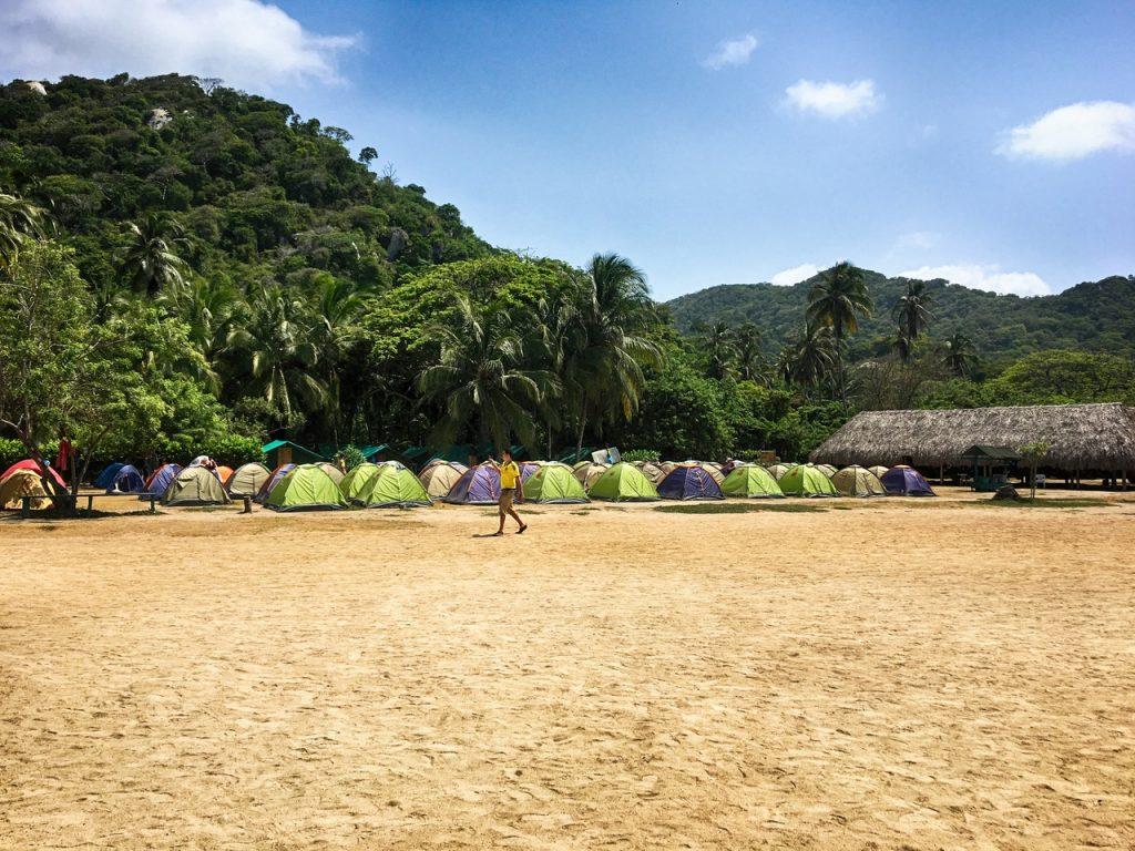 Кемпинг на пляже Сан Хуан