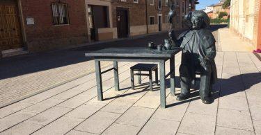 статуя пилигрима в городе Ломас