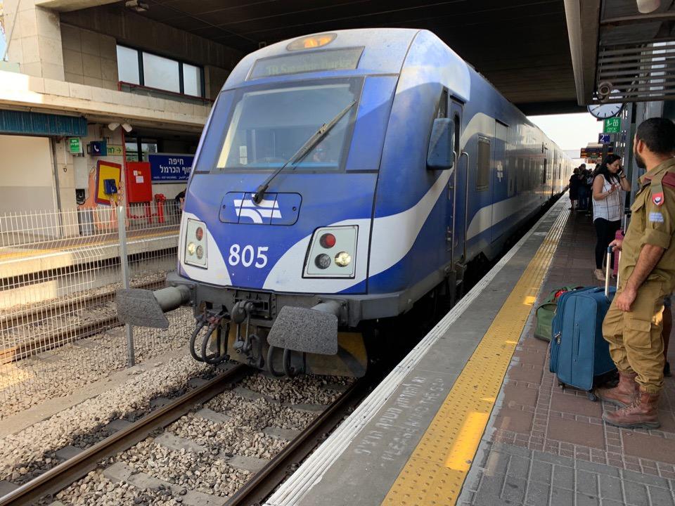 Поезд из Хайфы в Тель-Авив
